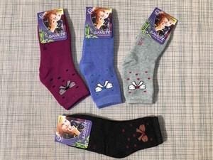 Носки для девочек махра клевер термо - фото 17442