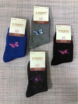 Носки для девочек с махрой бабочки - фото 17648