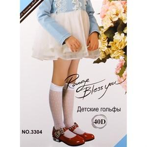 ДЕТСКИЕ ГОЛЬФЫ ФУТЕ КАПРОН В ГОРОШЕК АРТ-3304 - фото 16366