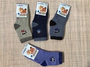 Детские махровые носки клевер мальчики - фото 17430