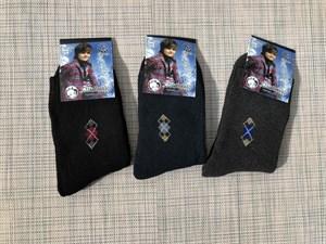 Детские махровые носки для подростка ромбики - фото 17438