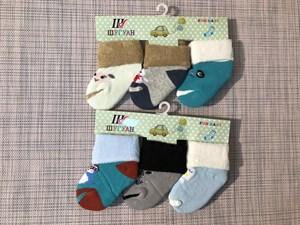 Носки для малюток c рисунками внутри махра - фото 17473