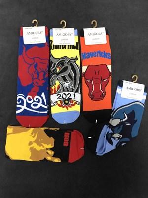 Носки с рисунками Бык символ года 2021 АМИГОС - фото 18029