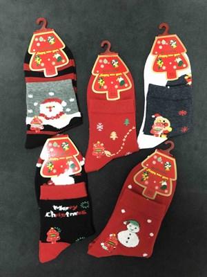 Новогодние носки с рисунками Олени, Елки, Снеговоики - фото 18035
