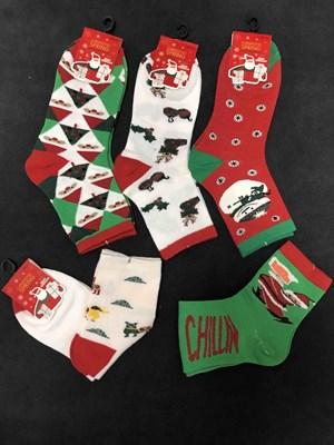 Новогодние носки с рисунками разные - фото 18037