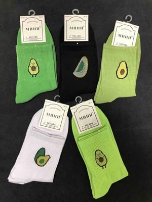 Носки с рисунками авокадо унисекс - фото 18045