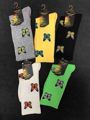 Носки с рисунками Бабочки ассорти - фото 18053