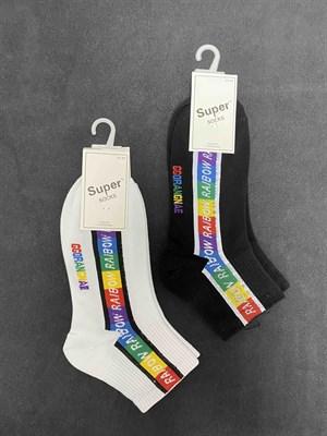Носки с рисунками унисекс короткие - фото 18086
