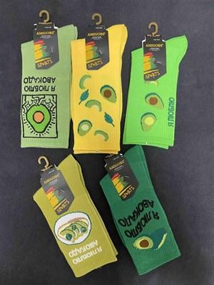 Носки с рисунками унисекс Авокадо и с надписями - фото 18092