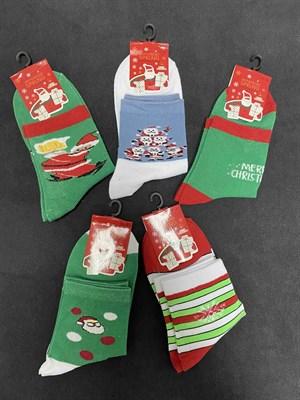 Носки с рисунками Новый Год тематика 5 - фото 18127