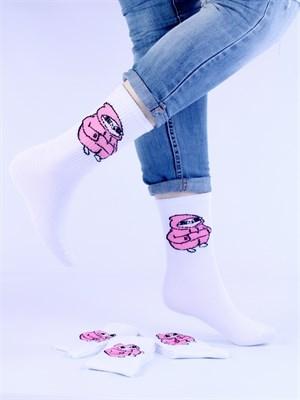 Носки с рисунками и с принтом мемы оптом Ketnipz Ножки в куртке Nosi Noski - фото 18195