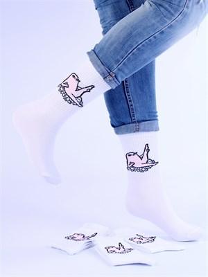 Носки с рисунками и с принтом мемы оптом Ketnipz Ножки верх Nosi Noski - фото 18197