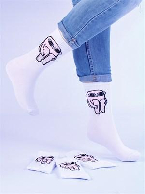 Носки с рисунками и с принтом мемы оптом Ketnipz маленькие ножки Nosi Noski - фото 18200