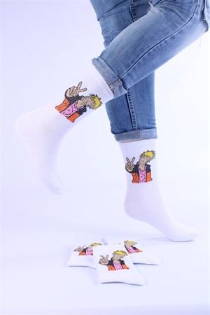 Носки с рисунками и с принтом оптом Аниме Наруто писс Nosi Noski - фото 18291