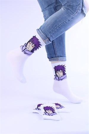 Носки с рисунками и с принтом оптом Аниме Персонаж фиолетовый Nosi Noski - фото 18300