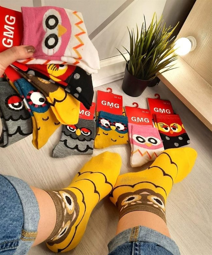 Женские носки GMG совушки мордушки оптом - фото 18601