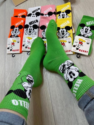 Женские носки GMG Высокие рисунки  Микки Маус оптом 145 - фото 18615