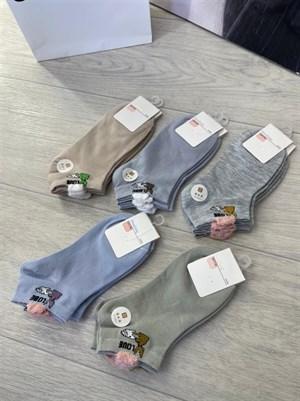Женские носки GMG короткие рисунки Зайчик оптом - фото 18617