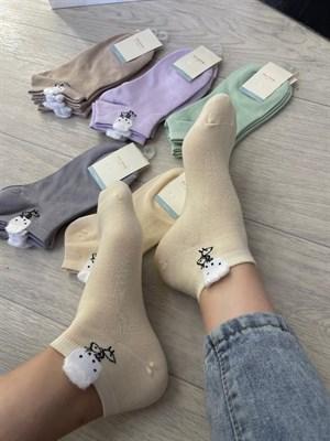 Женские носки GMG короткие рисунки оптом 325н - фото 18620