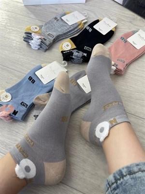 Женские носки GMG короткие рисунки оптом надписи - фото 18621