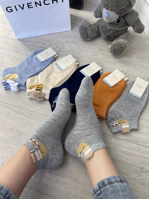 Женские носки GMG короткие рисунки оптом котик - фото 18624