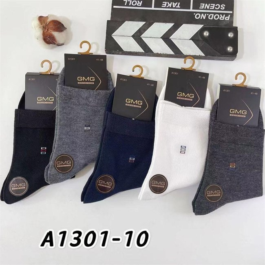 Мужские носки GMG с узором ассорти оптом 1301-10 - фото 18638