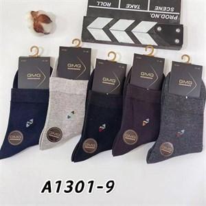 Мужские носки GMG с узором ассорти оптом 1301-9 - фото 18639