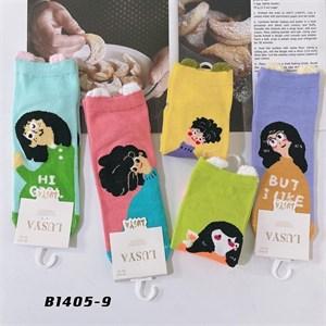 Носки с рисунками GMG высокие мультяшные Девушка 1405-09 - фото 18645