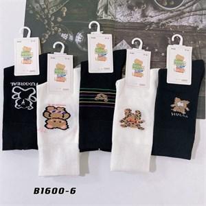 Носки с рисунками GMG высокие черно белые 1600-6 - фото 18652