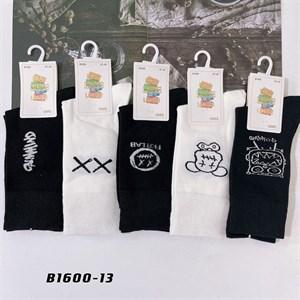 Носки с рисунками GMG высокие черно белые 1600-13 - фото 18656