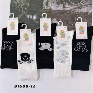 Носки с рисунками GMG высокие черно белые 1600-12 - фото 18657