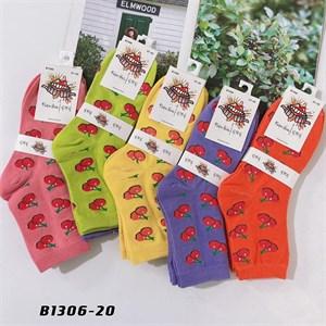 Носки средней длины GMG сочные рисунки вишня оптом 1306-20 - фото 18666