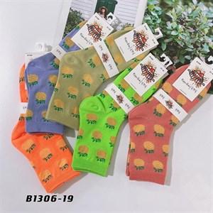 Носки средней длины GMG сочные рисунки ананас оптом 1306-19 - фото 18667