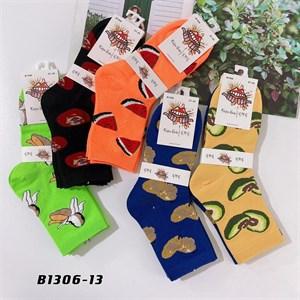 Носки средней длины GMG сочные рисунки фруктов оптом 1306-13 - фото 18669