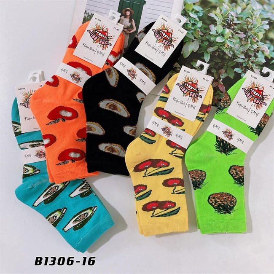 Носки средней длины GMG сочные рисунки фруктов оптом 1306-16 - фото 18670