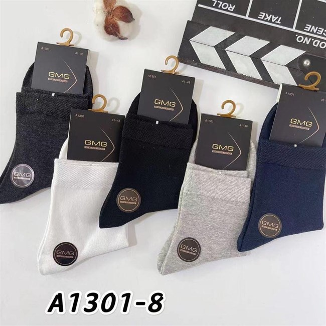 Мужские носки средней длины гладкие ассорти 1301-8 - фото 18702