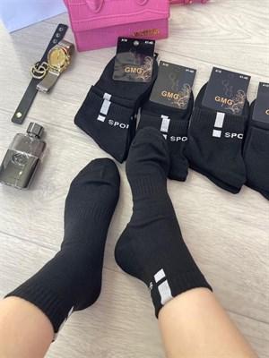Мужские носки средне короткие черные под кроссовки спорт GMG SPORT - фото 18747