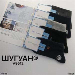 Мужские носки высокие гладкие Шугуан классика оптом 9512 - фото 18797
