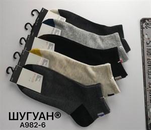 Мужские носки короткие Шугуан ассорти спорт оптом 982-6 - фото 18809