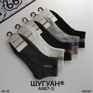 Мужские носки короткие Шугуан ассорти спорт оптом 987-3 - фото 18813