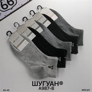 Мужские носки короткие Шугуан ассорти спорт оптом 987-8 - фото 18823