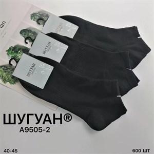 Мужские носки короткие Шугуан ассорти спорт оптом 9505-2 черные - фото 18841
