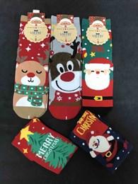 Новогодние носки с рисунками Дед Мороза