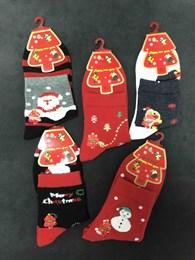 Новогодние носки с рисунками Олени, Елки, Снеговоики