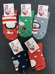 Носки с рисунками унисекс пингвины Новый Год