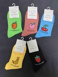 Носки с рисунками средняя длина фрукты