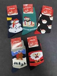 Носки с рисунками Новый Год Снеговик