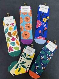 Носки с рисунками цветочки и тд унисекс