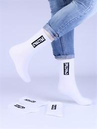 Носки с надписями оптом Счастье белые Nosi Noski
