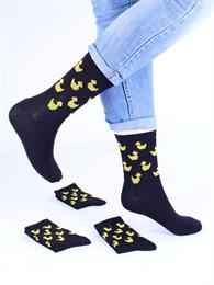 Носки с рисунками и с принтом оптом Утки черные Nosi Noski